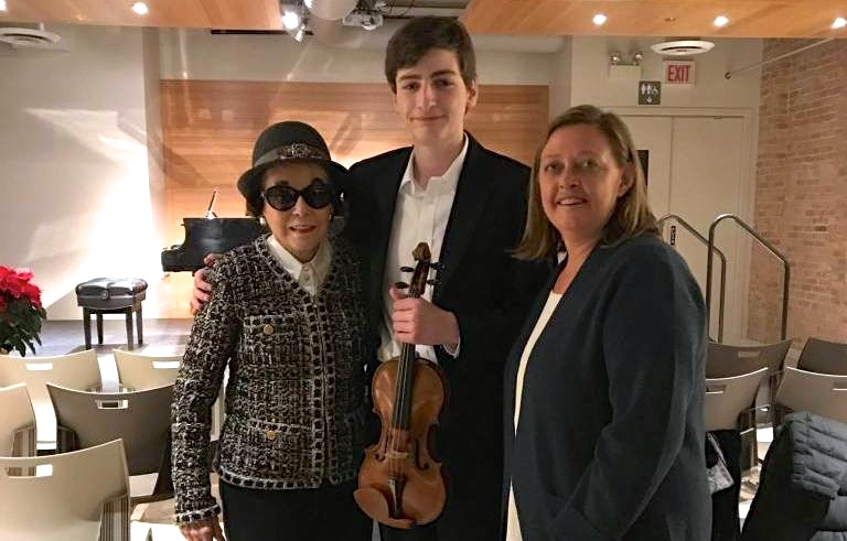 Joshua Brown, 17, receives Pietro Guarneri Violin through Stradivari Society