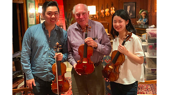 Testing the Sloan Strad and del Gesù Violins with Hao Zhou and Lucy Wang