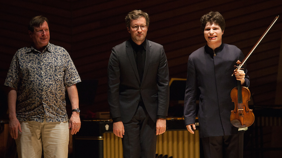 Stephen Hartke, Augustin Hadelich and Conor Hanick