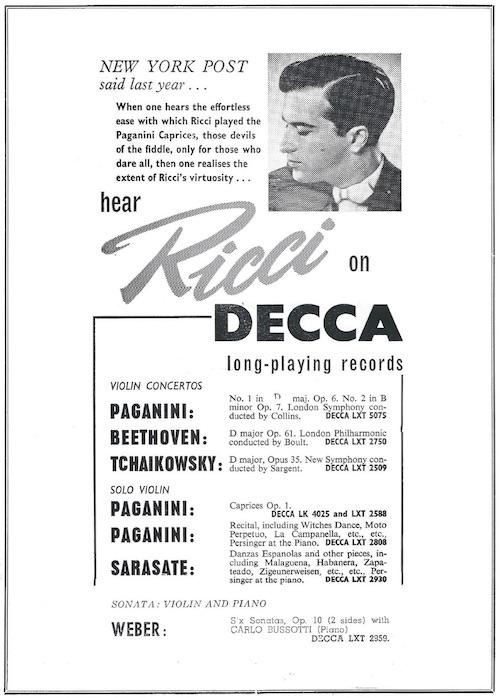 Ricci Decca ad